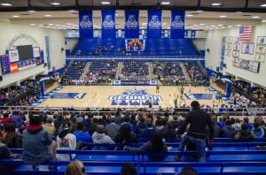 The GSU Sports Arena is home to the men's and women's basketball teams, volleyball team and future home of the sand volleyball team. Patrick Duffy | THE SIGNAL.