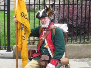 Darris Pope | The Signal  William Temple proudly supports his second amendment rights by showing his colonial dress.