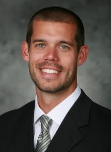 Men's soccer coach, Brett Surrency. Photo courtesy of Georgia State Athletics.