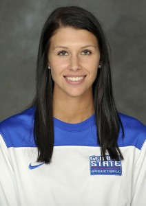 Morgan Jackson of the women's basketball team. Photo courtesy of Georgia State athletics and Paul Abell.