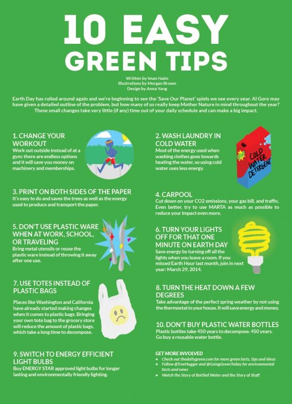 10 Easy Green Tips
