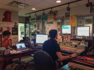 A view from inside the WRAS studio- Photo by: Nadia Deljou