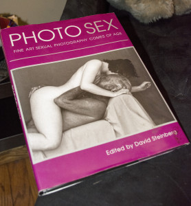 """A book titled """"Photo Sex"""" guests see as they enter Velvet Lips. Photo by Jade Johnson 