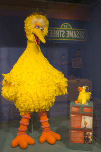 A full sized Big Bird from Sesame Street on display at the Center for Puppetry Arts.  Photos by Lahar Samantarai | The Signal
