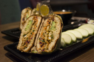 An Asian Chicken Crunch panini offered as an entree at Fresh to Order. Photo by Jade Johnson   The Signal