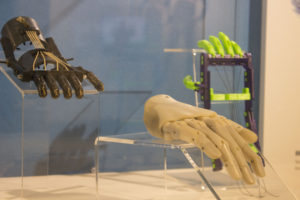 3D printed custom prosthetic limbs displayed at the Museum of Design Atlanta.    Photos by Lahar Samantarai | The Signal