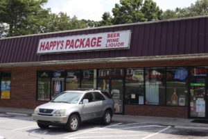 Happy's Package Store, located in Clarkston, Georgia. The city issues a moratorium, restricting new businesses from acquiring liquor licenses. Photo by Dayne Francis    The Signal