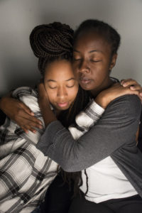 Co-Owner and Founder of A Southern Touch Shayla Tumbling uses touch and cuddling as a therapeutic tool. This type of therapy can help those who suffer with depression or to improve connections with others among other benefits.  Photo Illustration by Jade Johnson | The Signal