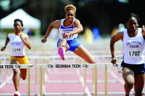 Tamara Moore hurdles all adversity. Photo courtesy of Georgia State Athletics.