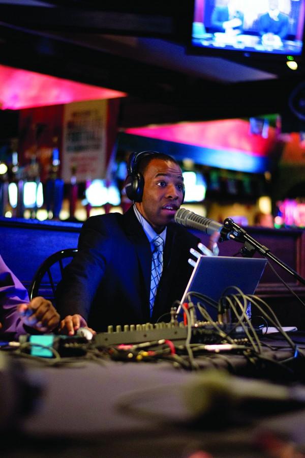 "Jason Halliburton brings his radio show ""The Sports Menu"" to the fans at local sports bars."