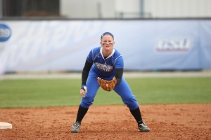Paige Nowacki patrols the field.  Photo courtesy of Georgia State Athletics.