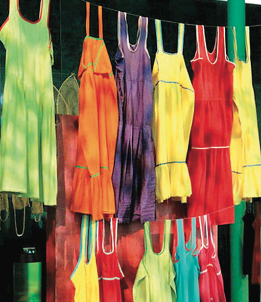 Photo courtesy of Richard Owen   Throw on a bright dress to stop the winter blues.
