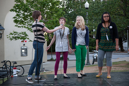 Director Diana Brown and friends at Atlanta Fringe 2012 | submitted photo