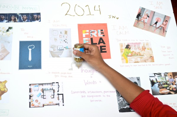 Creating a Vision Board is a fun and creative way to set goals.