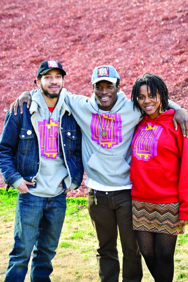 Classik Brand is a clothing line and art collective ran by Georgia State students (left to right) MIcah Smith, George F Baker III and Gerri Carter.