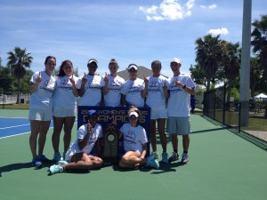 Photo Courtesy: Georgia State Athletics. The women's tennis team brings back the first Sun Belt title to the program since 2009.