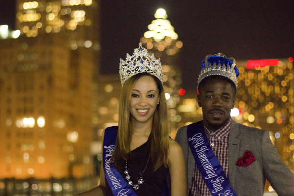 2013 Homecoming Queen CHARIS HANNER and KING FEMI BAB-OKE PHOTO BY RUTH PANNILL | THE SIGNAL