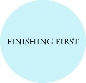 Finishing first