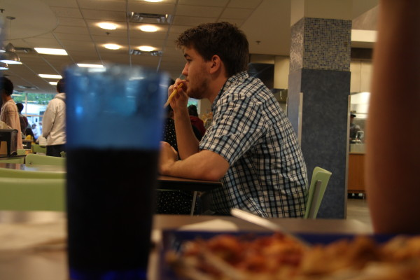 A student has his meal at Piedmont North dining hall. PHOTO BY RALPH HERNANDEZ | THE SIGNAL