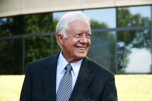 Former President Jimmy Carter turns to his Christian faith during this hard time.  Submitted Photos by Rick Diamond   The Carter Center