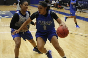 This season's women's basketball team has a lot of pressure on the shoulders after having a disappointing 2014-15 season Photo by: Jason Luong