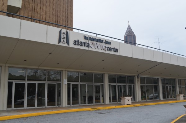 The Atlanta Civic Center sits off of Piedmont Avenue awaiting its upcoming redevelopment Photo by Justin Clay | The Signal