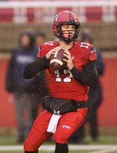 Utah Utes quarterback Conner Manning (17) as the University of Utah is defeated by Arizona University 42-10 in PAC 12 football in Rice-Eccles Staduim Saturday, Nov. 22, 2014, in Salt Lake City. Photo By | University of Utah