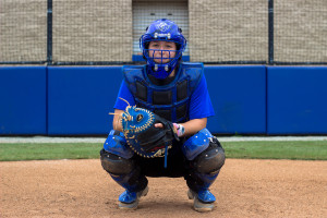 Ivie Drake practices catching during practice. Photos by Dayne Francis | Signal Archives