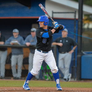 #8 Joey Roach batters up in a game against Western Michigan, Feb. 19, 2016. Photo Submitted | Georgia State Athletics