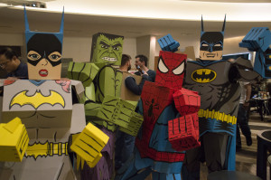 Cardboard heroes attend Cardboard Con inside the Atlanta Marriott Marquis, March 5, 2016. Photo by Jade Johnson | The Signal