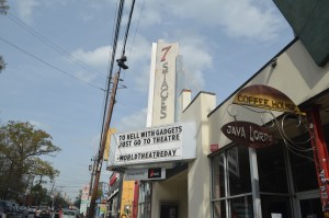 Outside of 7 Stages Theatre, located in the Atlanta neighborhood of Little Five Points. Photo by Justin Clay | The Signal