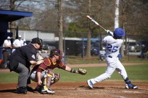 Junior Zach Wingate takes a swing during a Panthers home game. Photo By Dayne Francis | The Signal