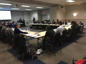 Georgia State's SGA take a vote on five new pieces of campus safety legislation, March 24, 2016.  Photo by Michael Gaither | The Signal
