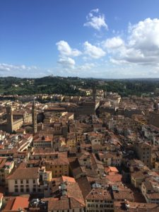 The view, from on top of the Florence Duomo. Photo by Chante Foster | The Signal