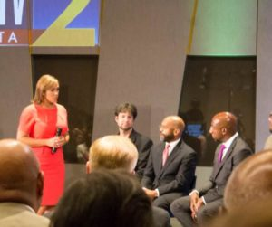 Channel 2 hosted the #ATLANTAUNITE panel. Photo Credit | Chelse Brown