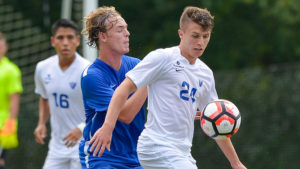 Georgia State men's soccer player Oliver Haines in action during a practice in Panthersville.  Photo Submitted by Georgia State Athletics