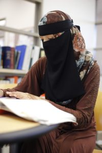Georgia State student Nabila Khan was asked by a professor to remove her niqab to be in compliance with her class policies. Photo Illustration by Dayne Francis | The Signal