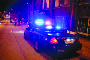 Amidst growing crime rates, APD patrol the streets of Atlanta . Photo by Vanessa Johnson   The Signal