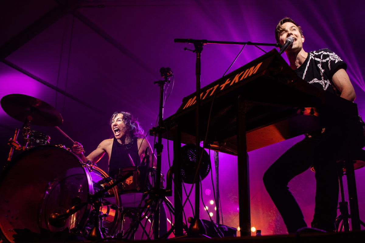 Matt and Kim perform on day two of Shaky Knees Festival 2018. Photo by Vanessa Johnson | The Signal