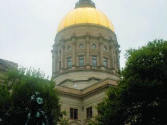 Gold Georgia State capitol
