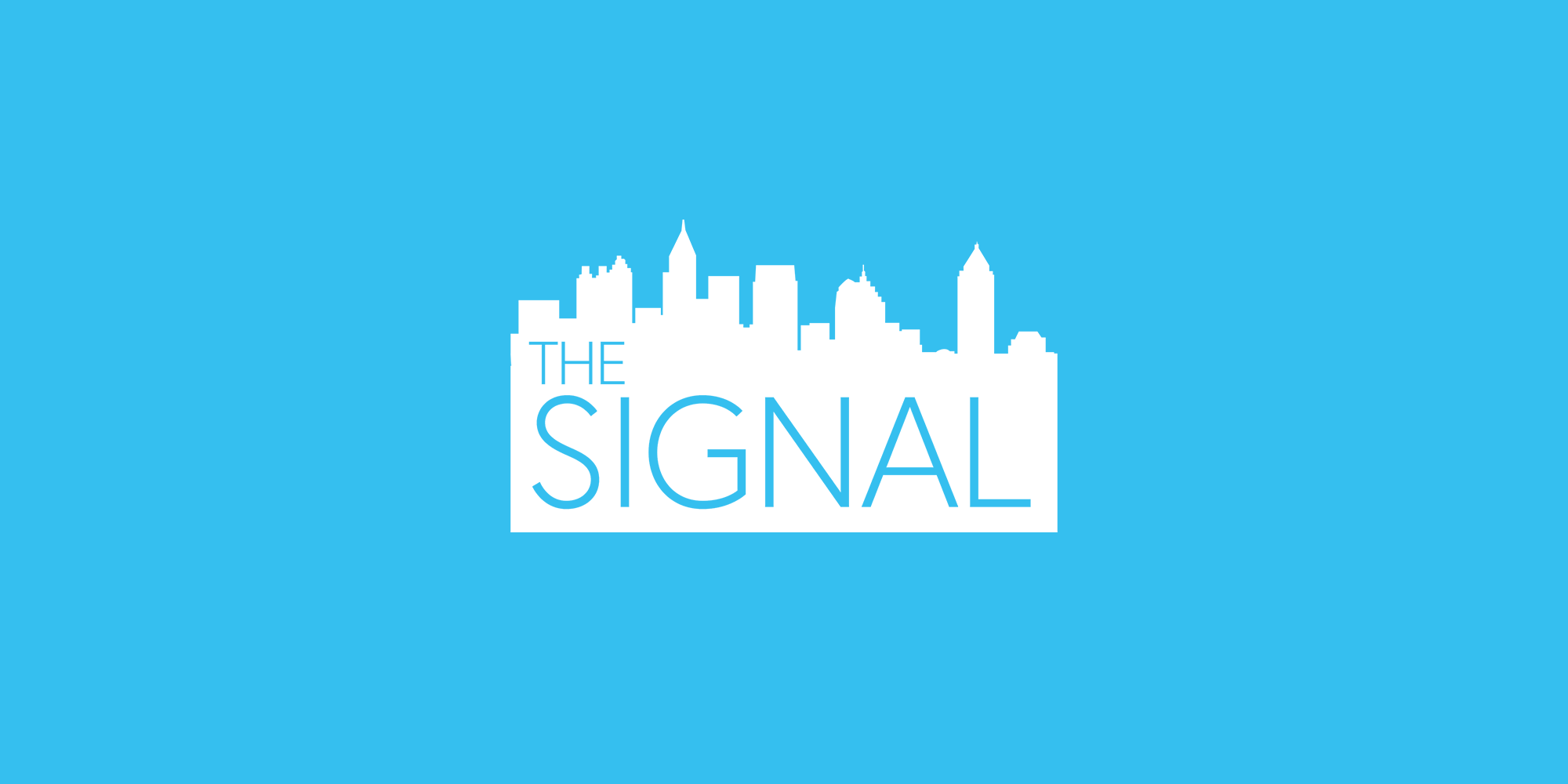 The Signal logo on a light blue background