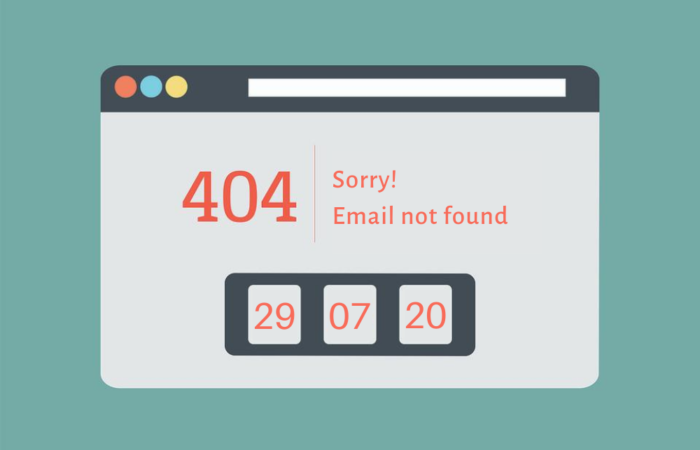 Email not found