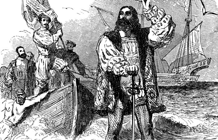 Columbus never really discovered the Americas as he only disrupted the natural lifestyle of the Indigenous Americans that were already there. Illustration by lenschanger on depositphotos.com